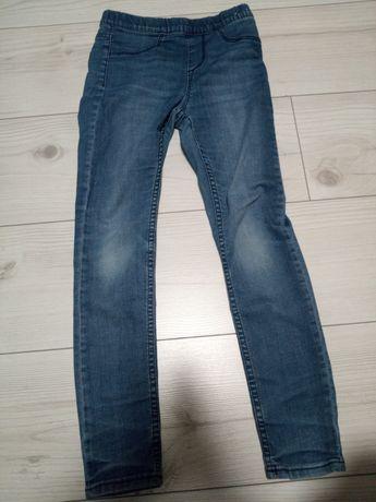 Spodnie dziewczęce jeansy 134