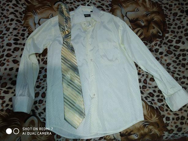 Рубашка, галстук, запонки для свадьбы/выпускного