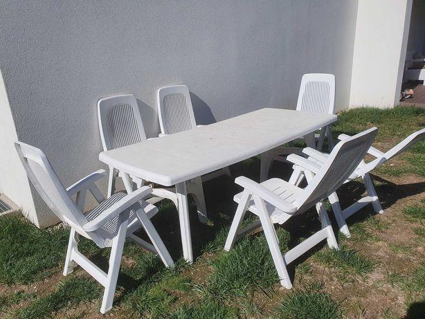 Conjunto jardim mesa e 6 cadeiras