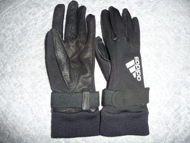 ADIDAS / Skórzane damskie rękawiczki na rower ( rozmiar - 6 / XS )