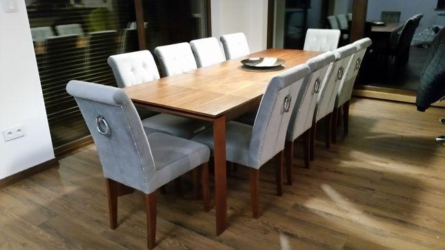 Krzesło z kołatką pikowane Chesterfield tapicerowane