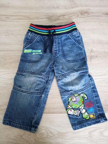 Spodnie r. 86 / 92 chłopięce jeansy George Toy Story