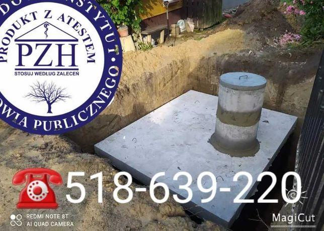 Szambo Betonowe, Zbiornik betonowy na deszczówkę Szamba Atest PZH