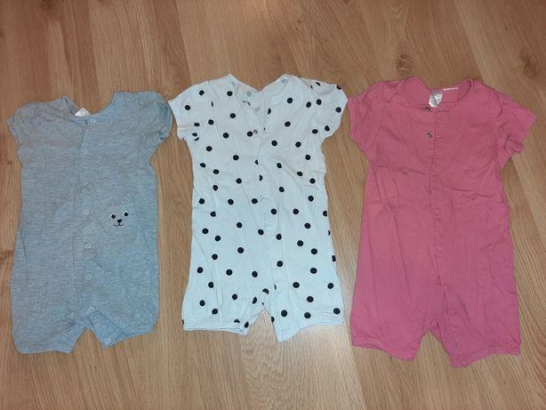 Zestaw pidżamek h&m rozmiar 86, krótki rękaw i nogawki