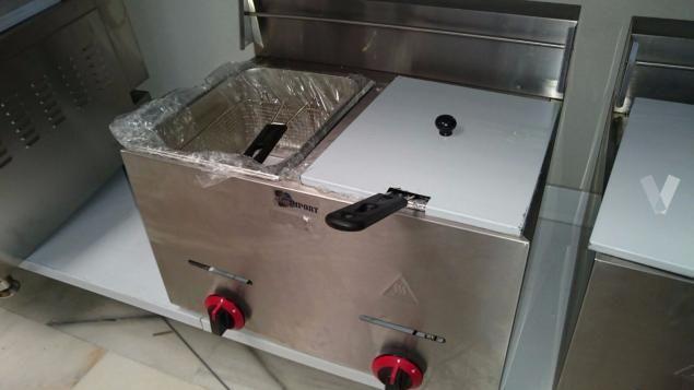 Fritadeira Industrial 6+6L a gás NOVA