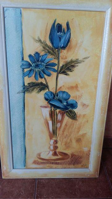 Obraz z motywem kwiatu
