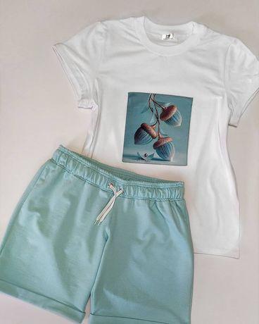 Дуже гарний літній костюм, шорти та футболка високої якості , нашивка