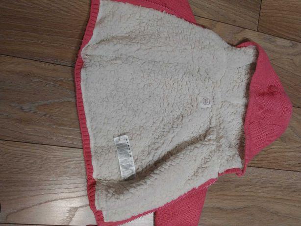 Sweterek, kurteczka r.74 dla dziewczynki