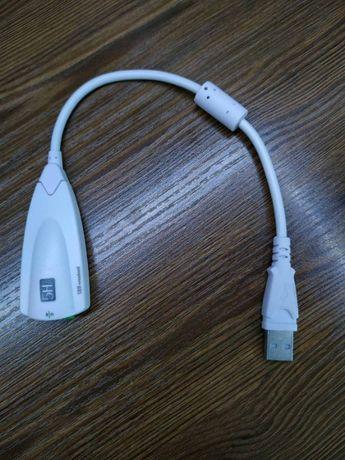 Внешняя USB звуковая карта с проводом (Sound Card Adapter)