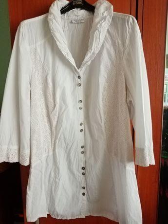 Biała bluzka damska z 3/4 rękawem