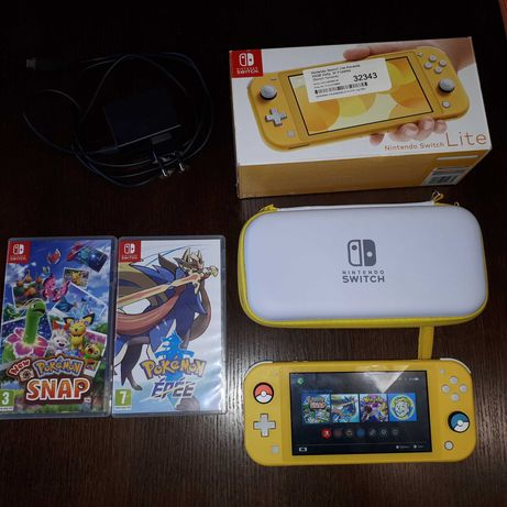 Nintendo Switch Lite 32 GB + Pokemon Sword + Pokemon Snap