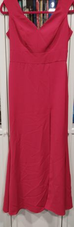 Przepiękna sukienka 38 malinowa ślub wesele studniówka syrenka