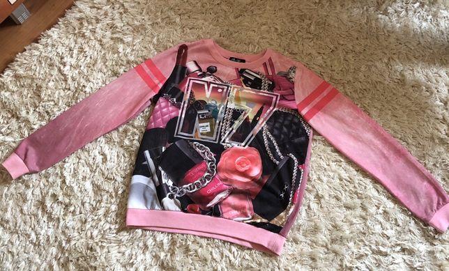 Buza, duża bluza, xs, różowa