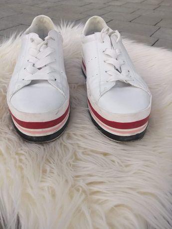Trampki buty sportowe na platformie, Stradivarius rozmiar 38