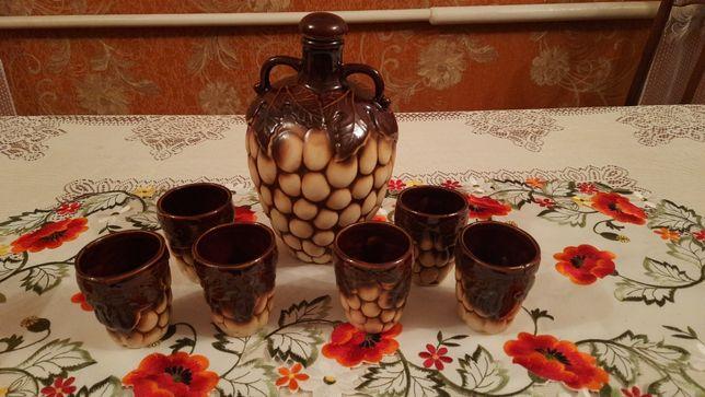 Набір для вина глиняний