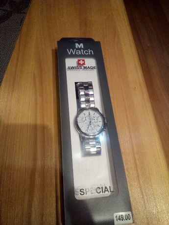 Zegarek M Watch Szwajcarski, Chronograf, Swiss Made