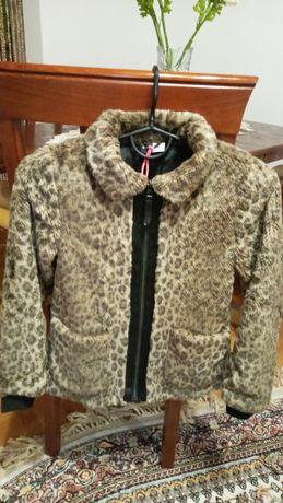 Шуба шубка куртка пальто леопардовая hm