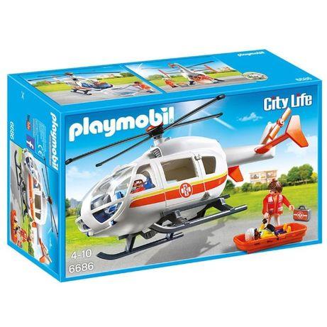 Playmobil 6686 Heli Emergencia Medica - NOVO