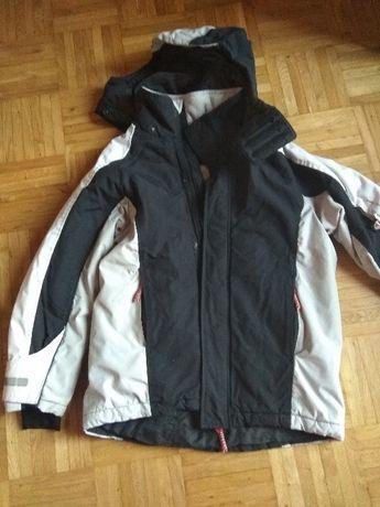 profesjonalna kurtka narciarska, granatowo-biała, H&M - rozmiar 152cm