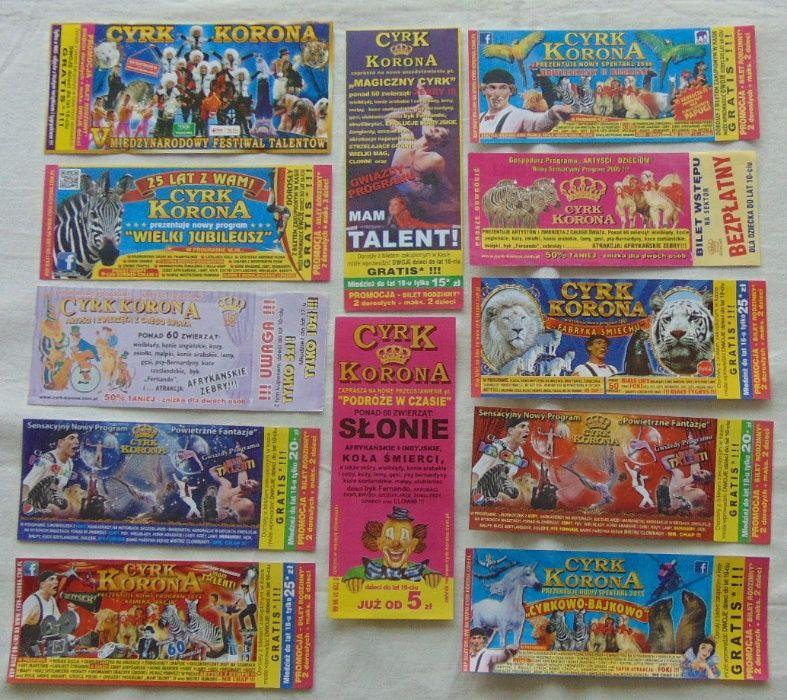 BILETY DO CYRKU dla kolekcjonera 12 sztuk zestaw 2 Grodzisk Mazowiecki - image 1