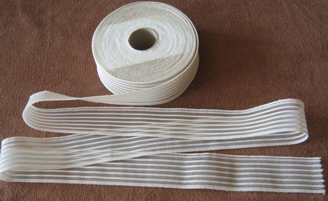 guma krawiecka odziezowa biala  o szer.30mm - na metry