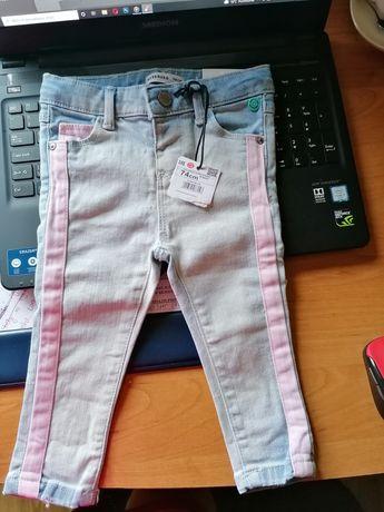 Spodnie NOWE dziewczynka Reserved 74 cm