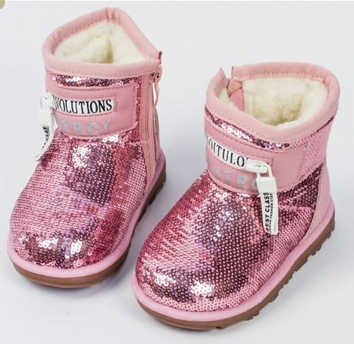 Угги для девочки, ботинки зимние для девочки, сапоги 22 23 24 25 Киев - изображение 1