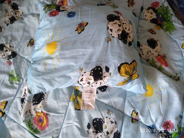 Одеяло с подушкой детское