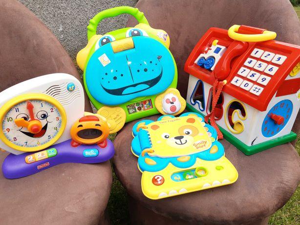 Zabawki zestaw interaktywne plus klocki