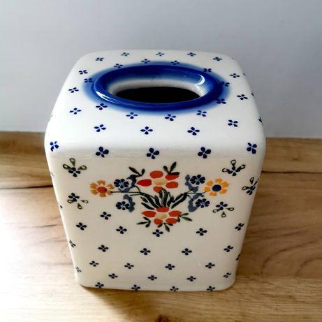 Osłonka na chusteczki Ceramika Bolesławiec