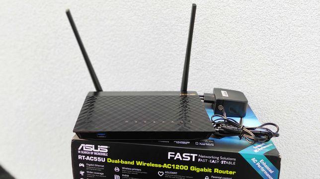 Router Asus RT-AC55U Wifi WPS dwuzakresowy 2,4 i 5 GHz 4G LTE+ Gratis