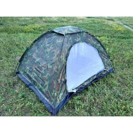 Палатка туристическая/армейская 4местная для отдыха цвета хаки Stenson