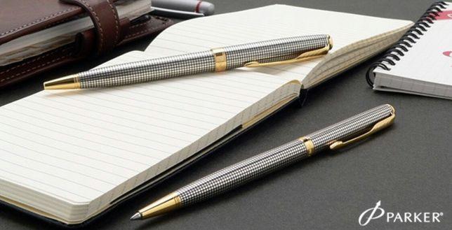 Ручка шариковая Parker Sonnet Slim K434 Cisele silver