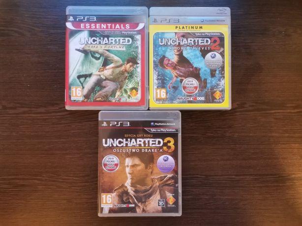 Zestaw 3 części Uncharted ps3 playstation wysyłka