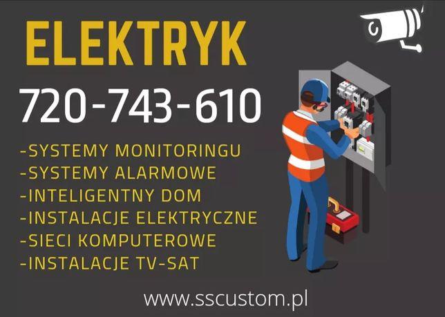 Elektryk - Instalacje elektryczne, monitoring , alarmy - montaż serwis