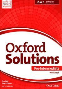 Oxford Solutions Pre Intermediate Workbook + Online Practice