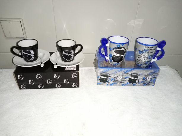 Chávenas de café corsica
