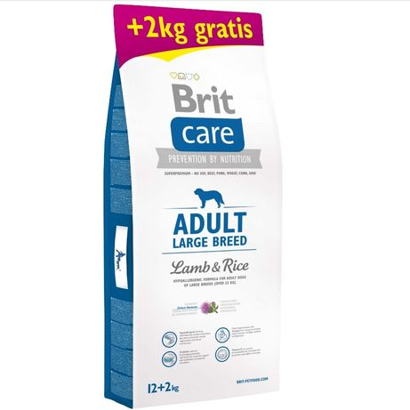 Сухой корм Brit Care Adult Large Breed Lamb & Rice 12+2 кг (ягненок и
