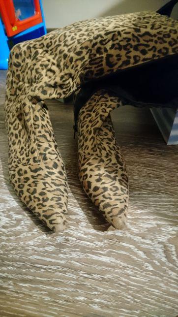 Сапоги деми тканевые леопард