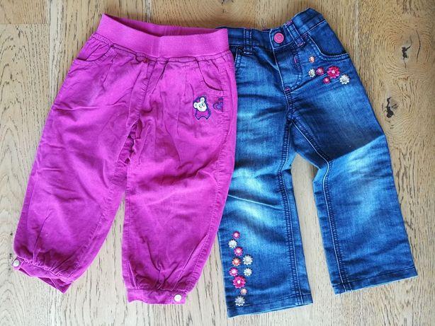 Spodnie Coccodrillo i Mothercare 92