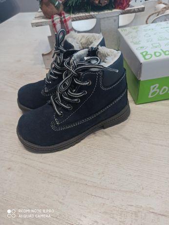 Nowe skórzane buty zimowe rozmiar 25