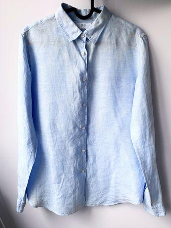 Koszula błękitna jasnoniebieska 100% len