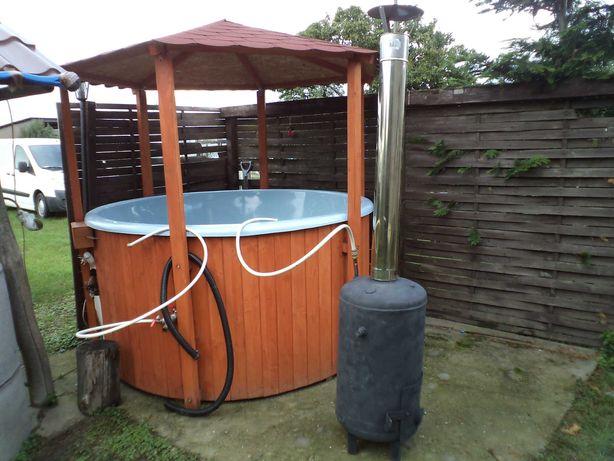 Balia bania  beczka ogrodowa basen sauna jacuzzi z piecem OKAZJA