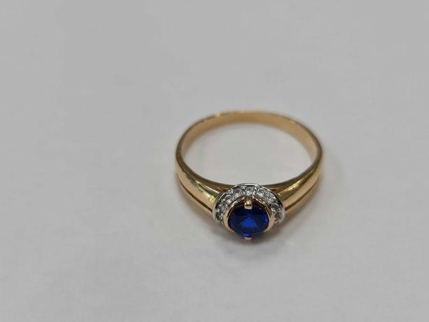 Piękny złoty pierścionek damski/ 585/ 3.28 gram/ R20/ Gdynia