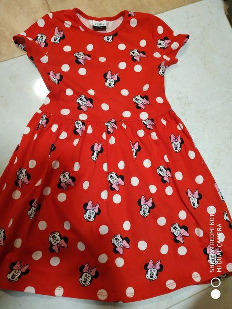 Sukienka z myszką Minnie. Nowa bez metki. 5-6 lat