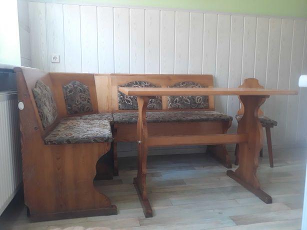 meble kuchenne zestaw narożny, stół i krzesło