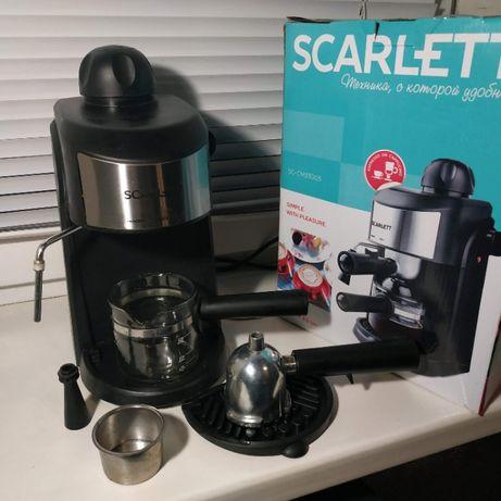 Эспрессо кофеварка рожковая Scarlett SC-CM33005 кофемашина