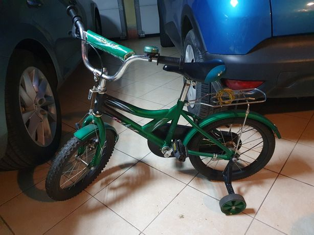Rower 16 cali dziecięcy zielony