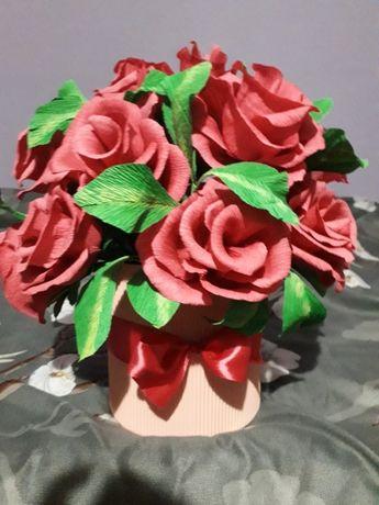 Flowerbox, kwiaty z krepiny, bukiety z kwiatów