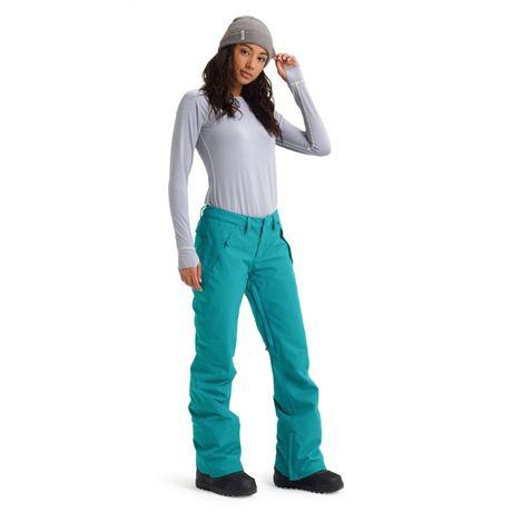 Damskie Spodnie Burton Society Green-Blue Slate rozm m